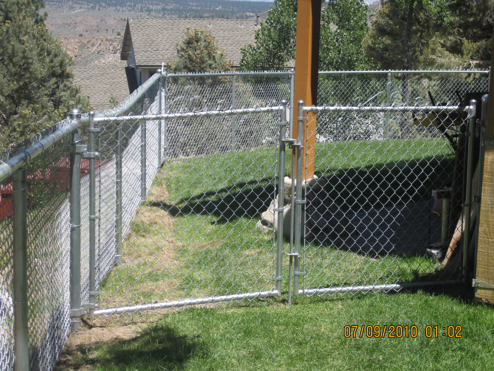 chain link fence double gate. Chain Link Fence Double Gate