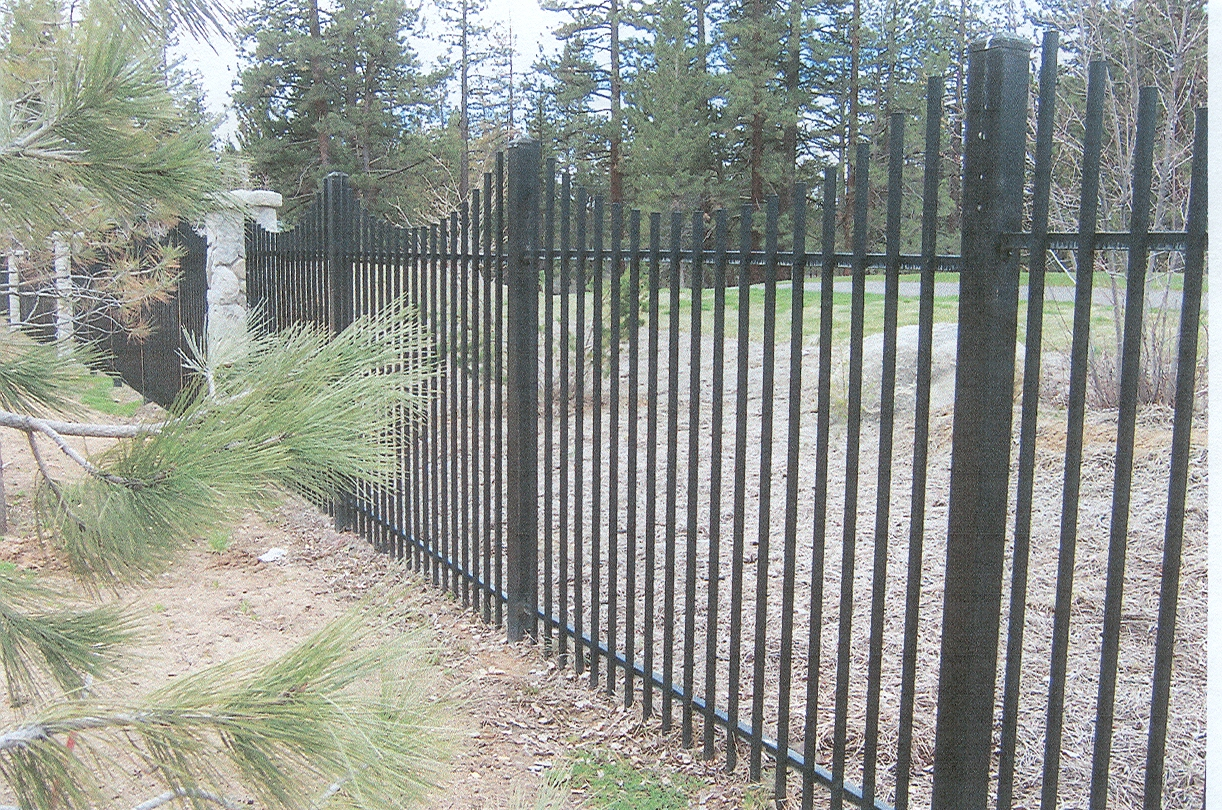 Ornamental wire fencing - Add Value To The Look Of Your Property With One Of Our Ornamental Iron Steel Fences Tahoe Fence Sells Repairs And Installs Many Styles From The Simple