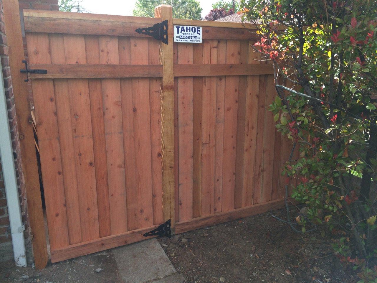 Wood Tahoe Fence