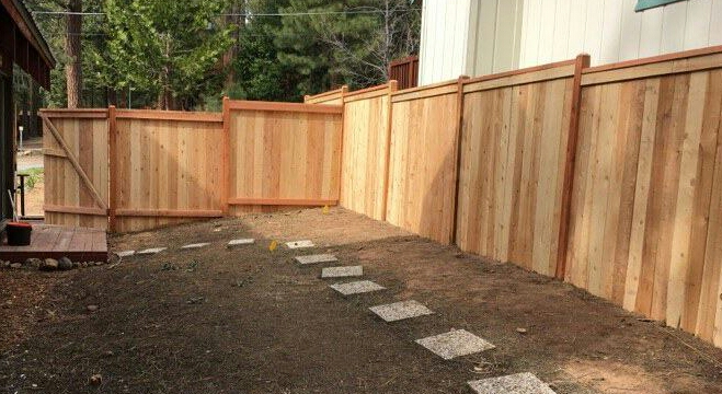 The Vast Majority Of Wood Materials Tahoe Fence S Repairs And Installs Are Untreated Redwood Cedar We Stock Pressure Treated Lodge Pole