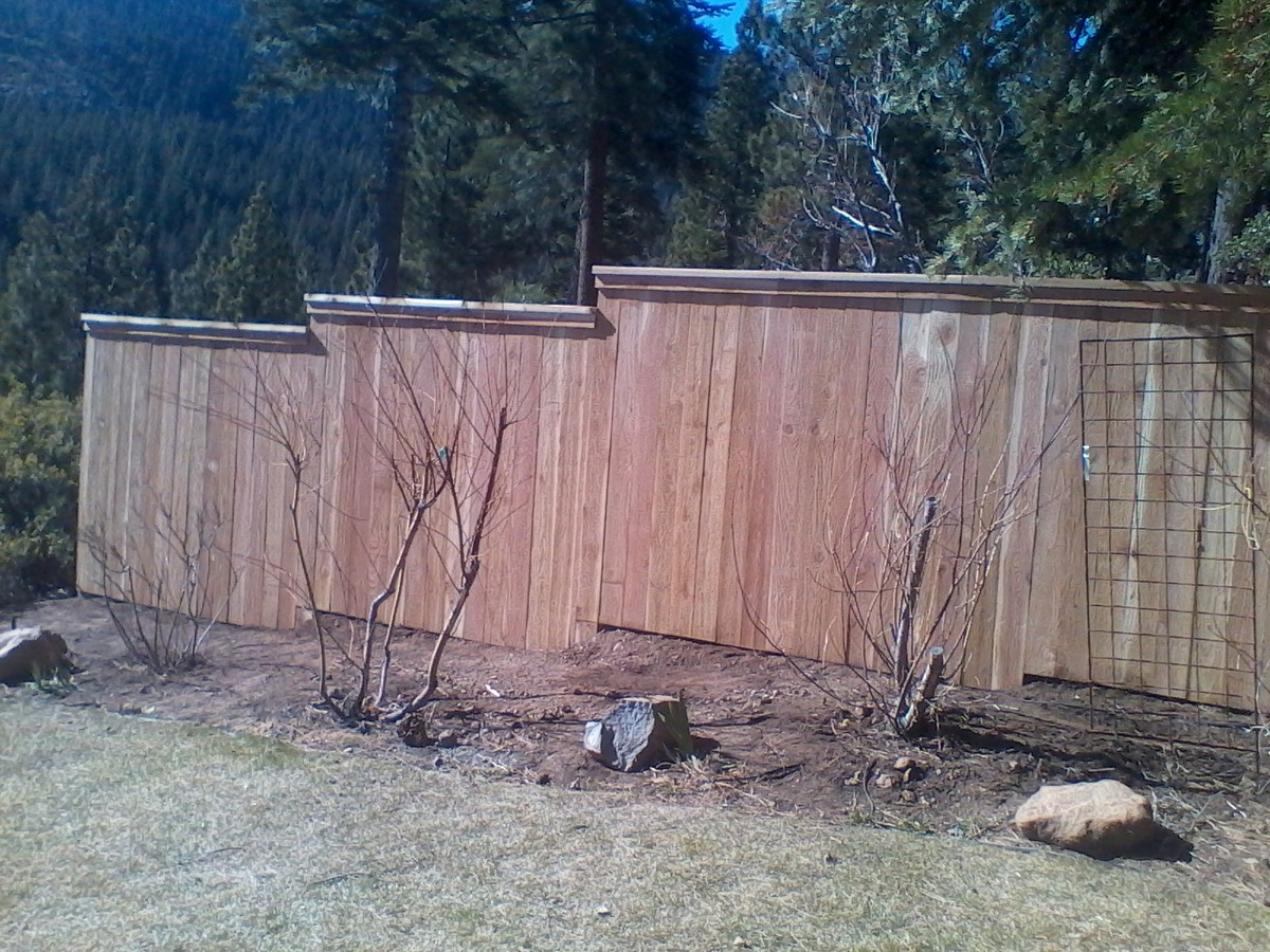 Wood tahoe fence the vast majority of wood materials tahoe fence sells repairs and installs are untreated redwood and cedar we stock pressure treated wood and lodge pole baanklon Gallery