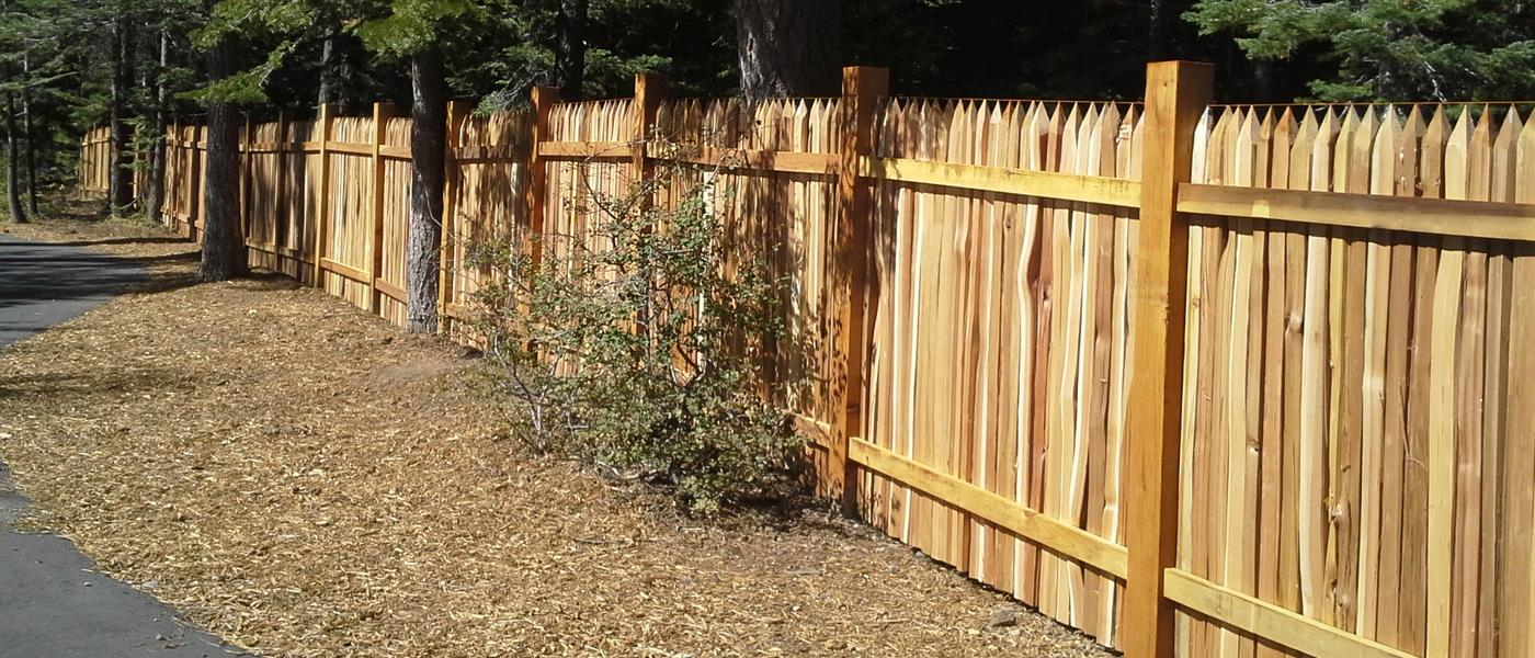 Natural Wood Fences