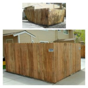 Dogear Redwood Enclosure (Before & After)