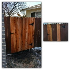 Dogear Wood Walk Gate Repair (After & Before)