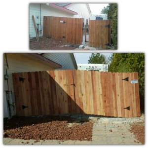 Biased Wood Drive Gate Repair (Before & After)