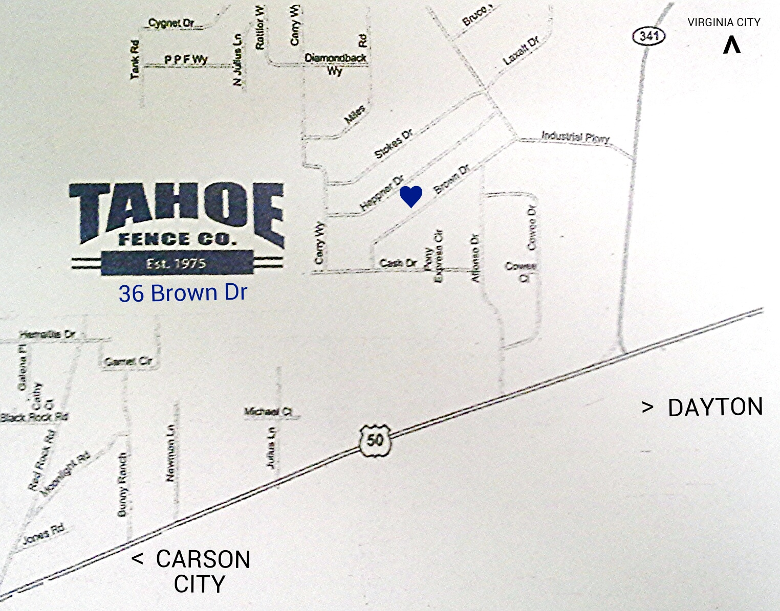 Tahoe Fence Map